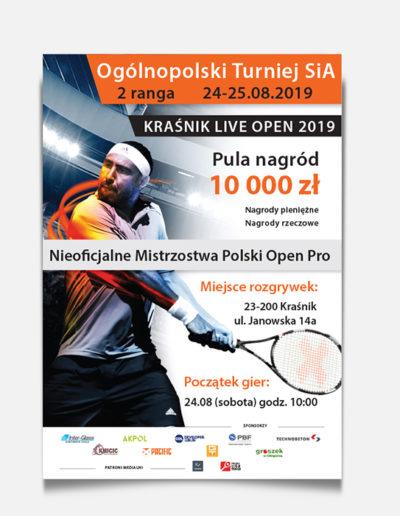 Turniej tenisowy SiA plakat